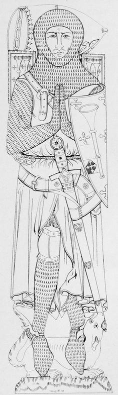 Effigies and Brasses: Sir Roger de Trumpington (1289))