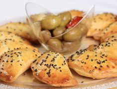 CHEESE & OLIVE PASTRIES (goat cheese, olive, anchovy)