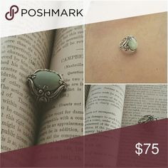 Southwestern Ring This ring is Jade set in .925 Sterling silver.   Size 7 Jewelry Rings