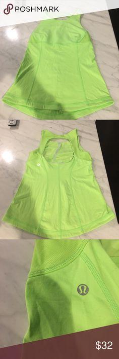 Lululemon size 6 neon green tank Lululemon size 6 neon green tank lululemon athletica Tops Tank Tops