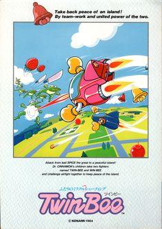 Twin-Bee (Konami, 1985) #arcade #art #retro #games