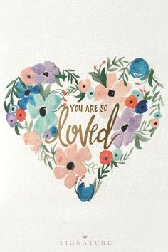 """Just in time for spring, this watercolor-inspired floral card is the prettiest way to say """"I love you."""" Shop Hallmark Signature's new card collection created by some of today's most trendsetting designers. There's something for everyone in your life!"""