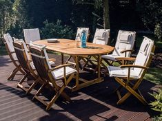 Creekmore 8 Seater Dining Set with Cushions Sol 72 Outdoor Colour: Beige Rattan Garden Chairs, Folding Garden Chairs, Rattan Dining Chairs, Garden Dining Set, Outdoor Dining Set, Garden Table, Outdoor Decor, Metal Table Frame, Solid Wood Table
