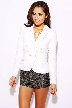 #1015store.com #fashion #style Bright white double breasted blazer-$15.00