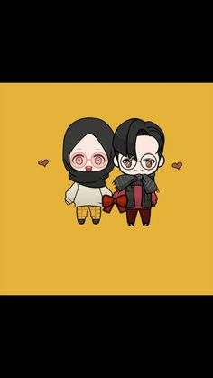 After married couple😊😍. Anime Muslim, Muslim Couples, Couple Art, Alhamdulillah, Islamic, Chibi, Japanese, Dolls, Cute