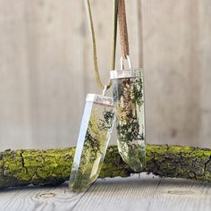 Forest Faux Crystal Pendants
