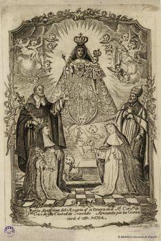 [Virgen del Rosario de Santa Cruz de Granada. Ruiz Luengo, Juan fl. 1700-1758 — Grabado — 1737?