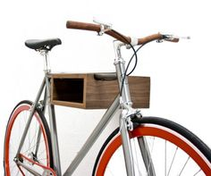 Bicycle walnut wood storage wall Tongariro finished with a clear lacquer. Bike wood holder to put your bike as an art piece in the wall. Bike Storage Wood, Wood Bike, Cycling Accessories, Bike Rack, Danish Design, Walnut Wood, Bicycle, Furniture, Bike Ideas