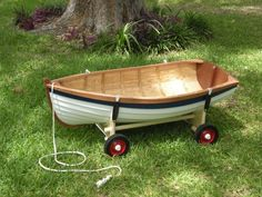Have the coolest kid in town pulled around in a boat instead of a wagon. Love this!