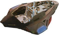 "fuckyeahspaceship: "" Delta Flyer (USS Voyager´s shuttle) cutaway Star Trek "" Aw yeeeah"
