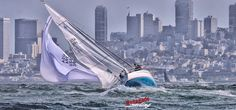 "Must be Rolex Big Boats time! Will San Francisco winds blow true to form? We're hoping so. Fleet 1 San Francisco J/105 ""Javelin"" gets tossed about on the run to finish at Alcatraz Island. ... ...  #sanfranciscobay #sanfrancisco #california #sailing #sailor #yachtracing #funtimes #fun #sailstagram #sailingstagram #competition #athletes #sports #sailboat #yacht #J105 #voiles #wind #gosailing #sailfast #spinnaker #spinnakers #gobigorgohome #yachtracing"