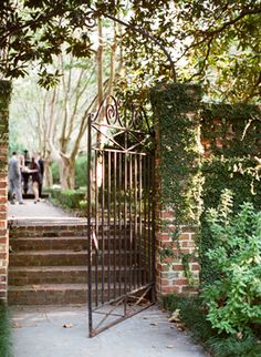 Entry to courtyard in Charleston, South Carolina