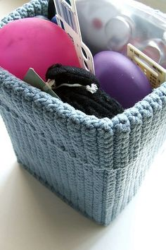 Crochet storage basket - I need to get organised and this way I get to crochet too!