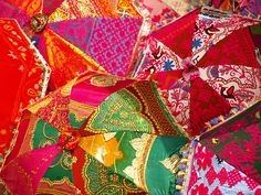 Jaipur umbrellas - what about this for the tops of tents?  Hmmmm!
