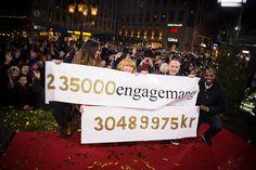 235 000 engagemang! 30 489 975 kronor! Det blev dubbelrekord, och det var NI som gjorde det! Vi ses på återträffen! / tack för allt hälsar sociala medier-gänget #mh14 #uppsala