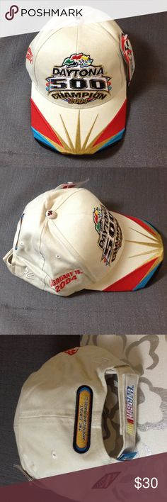 NWT2004 Dale Earnhardt Jr Daytona 500 Champion Cap Perfect for your collection. Tan color Chase Authentics Accessories Hats