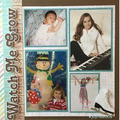 Watch me grow! Album by JoyFilled Custom Albums.  #joyfilledca #scrapbooking #growingup #watchmegrow