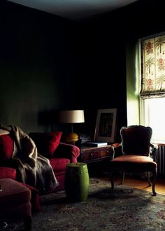 I'm getting more comfortable with the idea of painting my small apt in a dark color.