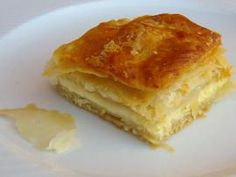 The pie Mrs Anna - with homemade puff pastry Macedonian Savory Muffins, Savory Tart, Greek Pita, Greek Pastries, Macedonian Food, Greek Recipes, Pie Dish, Food Processor Recipes, Bakery