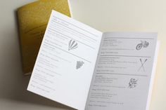 Itinerary booklet by Paisley quill