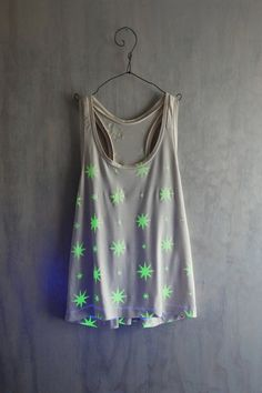 Glow in the dark Racerback Tank Top by katastrophicdesign