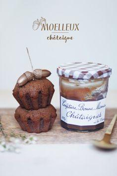 Molten lava cakes with chestnut jam