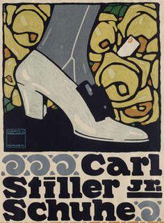 By Ludwig Hohlwein (1874–1949), c. 1909, Carl Stiller Jr. Schuhe. (G)