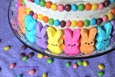 Use Peeps to decorate a frosted cake. | The 22 Best Ways To Eat EasterPeeps