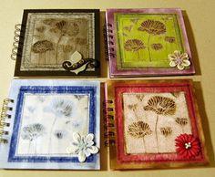 flower notebooks!