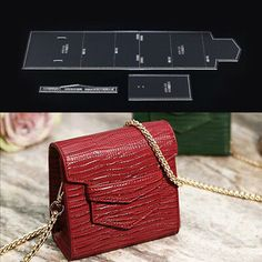 Details about Acrylic Clear Template Stencil Set Leather Square Shoulder Bag Pattern Leather Gifts, Leather Bags Handmade, Leather Craft, Leather Crossbody Bag, Leather Purses, Leather Wallet Pattern, Handbag Patterns, Leather Shoulder Bag, Clear Acrylic