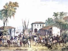 """Porto Estrela"". (by Johann Moritz RUGENDAS)."