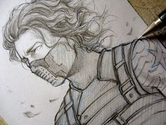Winter Soldier - Who's him?... - Sketch by Lehanan.deviantart.com on @deviantART
