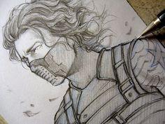 Winter Soldier - Who's him?... - Sketch by Lehanan.deviantart.com on @deviantART