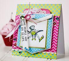 Fun, bright, joyful frog card!