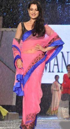 Amisha Patel Bollywood Beautiful Replica Pink #Saree