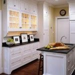 shallow cabinets, white cabinets
