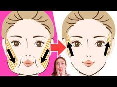 FACE LIFTING EXERCISES for Jowls & Laugh Lines! (Nasolabial Fold) - YouTube Face Lift Exercises, Neck Exercises, Facial Exercises, Sagging Cheeks, Sagging Face, Facial Yoga, Facial Massage, Cheek Lift, Nasolabial Folds