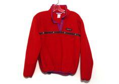 e1057713ef Vintage 80s fleece jacket Obermeyer pullover red patterned snap womens by  216vintageModern on Etsy Vintage Ski