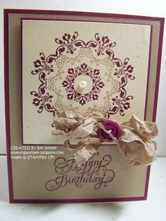 Daydream Medallions Birthday card with Stampin' UP!  Stamping With Bev
