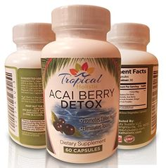100% Pure Acai Berry Detox Strongest Natural Cleanser, Big 60 Count Veggie Capsules, Eliminates Toxins, Promotes Healthy Colon, Aids Easy Weight Loss, Purest on the Market Tropical Holistic http://www.amazon.com/dp/B01BOE2CJ2/ref=cm_sw_r_pi_dp_ztY2wb1DVKK48
