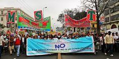"""La voz del pueblo dice: """"No a la revocatoria y NO a la corrupción"""" / Foto: Leidy Benites - Spacio Libre."""