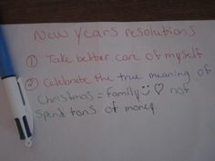 """""""I I received a BIC® 4-Color™ Pen for free from Smiley360""""  and I am using my BIC® 4-Color™ Pen to share your New Year's resolutions!"""" - Michele"""