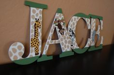 Jungle Animal Nursery Wall Letters by LoveBbyCarrie on Etsy