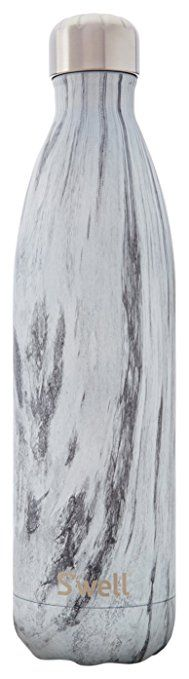 AmazonSmile: S'well Vacuum Insulated Stainless Steel Water Bottle, Double Wall, 17 oz, Opal Marble: Kitchen & Dining
