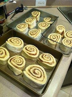 The BEST cinnamon rolls on the planet and super super easy to make! YUM!