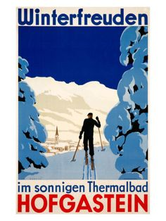 Vintage Travel Poster - Hofgastein, Austria - Winter Sports