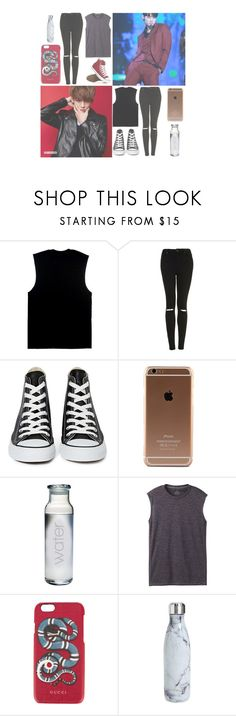 """& — "" Every time you do that, it makes me go crazy. When you look at my eyes and slightly smile, it makes me wanna run to you and hug you. "" — &"" by heathxns ❤ liked on Polyvore featuring beauty, Bambam, Topshop, Converse, prAna, Gucci and S'well"