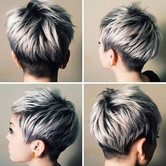 Shirt pixie hairstyle for women