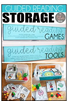 The First Grade Parade - Supply/Curriculum Storage Tips! Guided Reading Groups, Reading Centers, Reading Strategies, Teaching Reading, Literacy Centers, Reading Comprehension, Teaching Ideas, Reading Lessons, Reading Activities