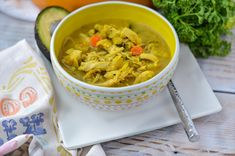 "An anti-inflammatory veggie-packed chicken soup that will leave you saying, ""what noodles?""  Whip this up on the weekend for quick and cozy meals throughout the week. Shall we call this turmeric chicken week?  After Tuesday's recipe for Avocado Turmeric Chicken Salad and now another turmeric chicken-based dish, I think we shall! Since my Instant Pot …"